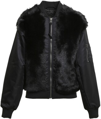 Mr & Mrs Italy x Nick Wooster Genuine Shearling Panel Bomber Jacket