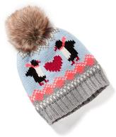 Old Navy Faux-Fur Pom-Pom Graphic Beanie for Toddler
