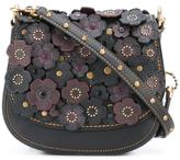 Coach flower embellished shoulder bag