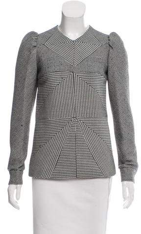 Derek Lam Houndstooth Wool Top w/ Tags