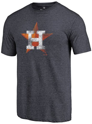 Fanatics Men's Heathered Navy Houston Astros Distressed Team Tri-Blend T-Shirt