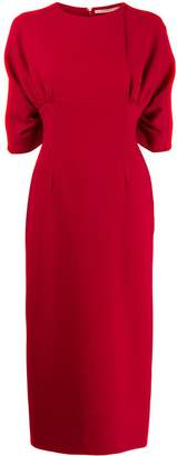 Emilia Wickstead Helga smocked sleeve dress