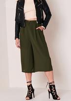 Missy Empire Cara Khaki Wide Leg Culottes