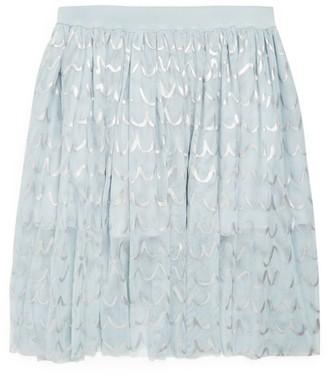 Stella McCartney Foil Detail Tulle Skirt