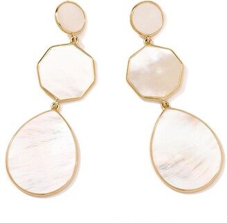 Ippolita 18kt yellow gold Polished Rock Candy Crazy 8's 3 mother-of-pearl drop earrings