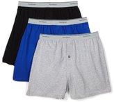 Fruit of the Loom Men'sKnit Boxer With Exposed Waistband - Colors May Vary(Pack of 3)
