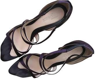 Alexander McQueen Purple Cloth Heels