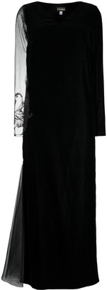 Gianfranco Ferré Pre-Owned 1990s Sheer Panel Evening Gown