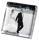 Simon Pearce Woodbury Square Photo Block Gift Set, 5