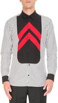 Givenchy Striped Contrast-Bib Shirt
