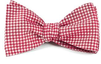 Tie Bar Bahama Checks Red Bow Tie