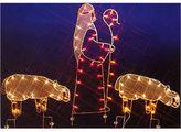 Asstd National Brand 68 Nativity Shepherd & Sheep Silhouette Lighted Wire Frame Yard Art