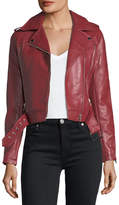 Romeo & Juliet Couture Faux-Leather Motorcycle Jacket