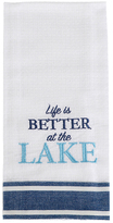 'Better at the Lake' Embroidered Dish Towel