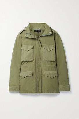 rag & bone - Field M65 Hooded Twill-trimmed Cotton-canvas Jacket - Army green