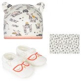 Little Marc Jacobs Little Marc JacobsIvory Hat & Slippers Set