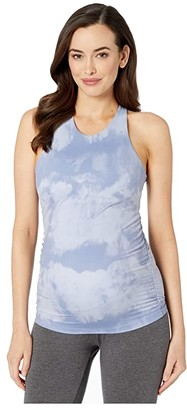 Beyond Yoga Maternity Back At You Shirred Tank (Serene Blue Smoke) Women's Clothing