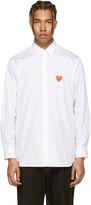 Comme des Garcons White Heart Patch Shirt