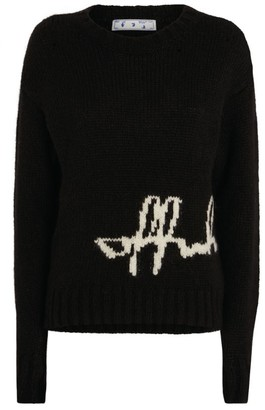 Off-White Intarsia Logo Sweater