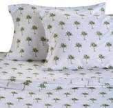 Panama Jack 300-Thread-Count Palm Tree Queen Sheet Set in Green