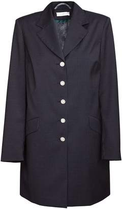Jiri Kalfar Black Pin Stripe Coat With Preciosa Buttons