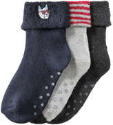 Joe Fresh Toddler Boys' 3 Pack Cuffed Socks, JF Midnight Blue (Size 1-3)