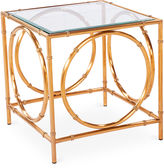 Blink Home Lana 22 Steel Side Table, Gold