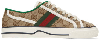 Gucci Beige GG Supreme 1977 Tennis Sneakers