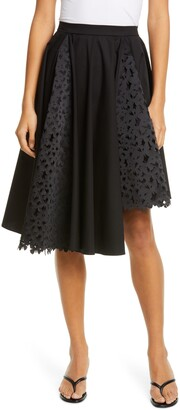PASKAL clothes Atlas Laser Cut Butterfly Asymmetrical Skirt