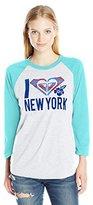 Roxy Juniors Love Paradise New York 3/4 Sleeve Tee