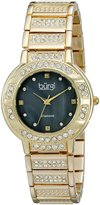 Burgi Women's BUR067YG Stainless Steel Diamond Bracelet Watch