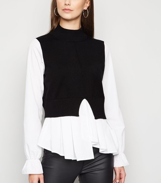 New Look Cameo Rose 2 In 1 Knit Jumper