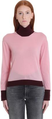 Golden Goose Chiyo Knitwear In Rose-pink Wool
