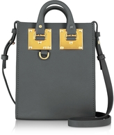 Sophie Hulme Charcoal Saddle Leather Albion Nano Tote Bag