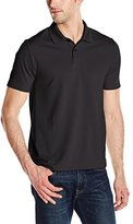 Perry Ellis Men's Two Button Stripe Texture Polo