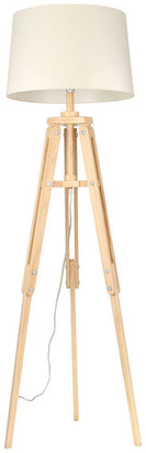 "Sagebrook Home Wood 63"" Tripod Floor Lamp, Natural"