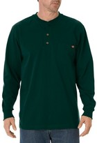 Dickies Men's Big & Tall Cotton Heavyweight Long Sleeve Pocket Henley Shirt