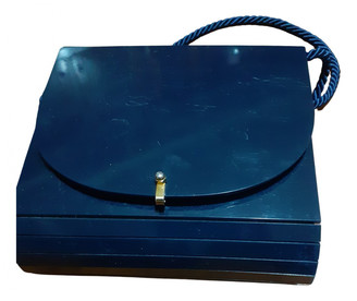 Non Signã© / Unsigned Blue Exotic leathers Clutch bags