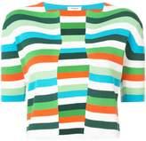 Akris Punto striped short-sleeve top
