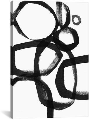 iCanvas icanvasart Brushstroke Circles By Linda Woods Canvas Print