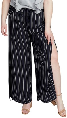 Rachel Roy Stripe Vented Drawstring Pants (Plus Size)