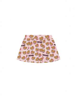 Moschino Teddy Shadow All Over Skirt Unisex Pink Size 3/6m It