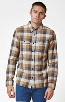 Vans Alameda Brown Plaid Flannel Long Sleeve Button Up Shirt