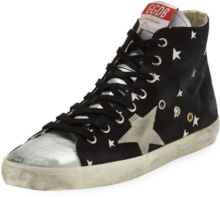 Golden Goose Francy Grosgrain High-Top Star Sneakers