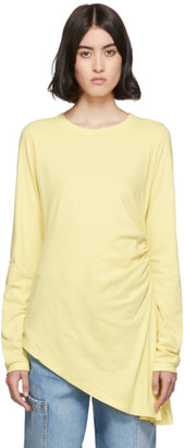 MM6 MAISON MARGIELA Yellow Ruched Long Sleeve T-Shirt