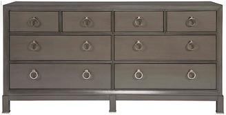One Kings Lane Gabriel Dresser - Dark Gray - frame, dark gray; hardware, brushed nickel