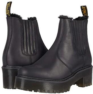 Dr. Martens Rometty Faux Fur (Black Maldova Waterproof) Women's Shoes