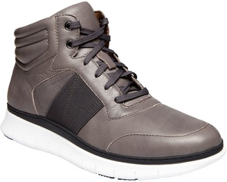 Vionic Men's Leather High Top Lace Up Sneakers- Jamal