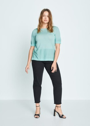 MANGO Short sleeve sweater