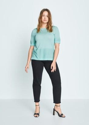 MANGO Violeta BY Short sleeve sweater orange - S - Plus sizes